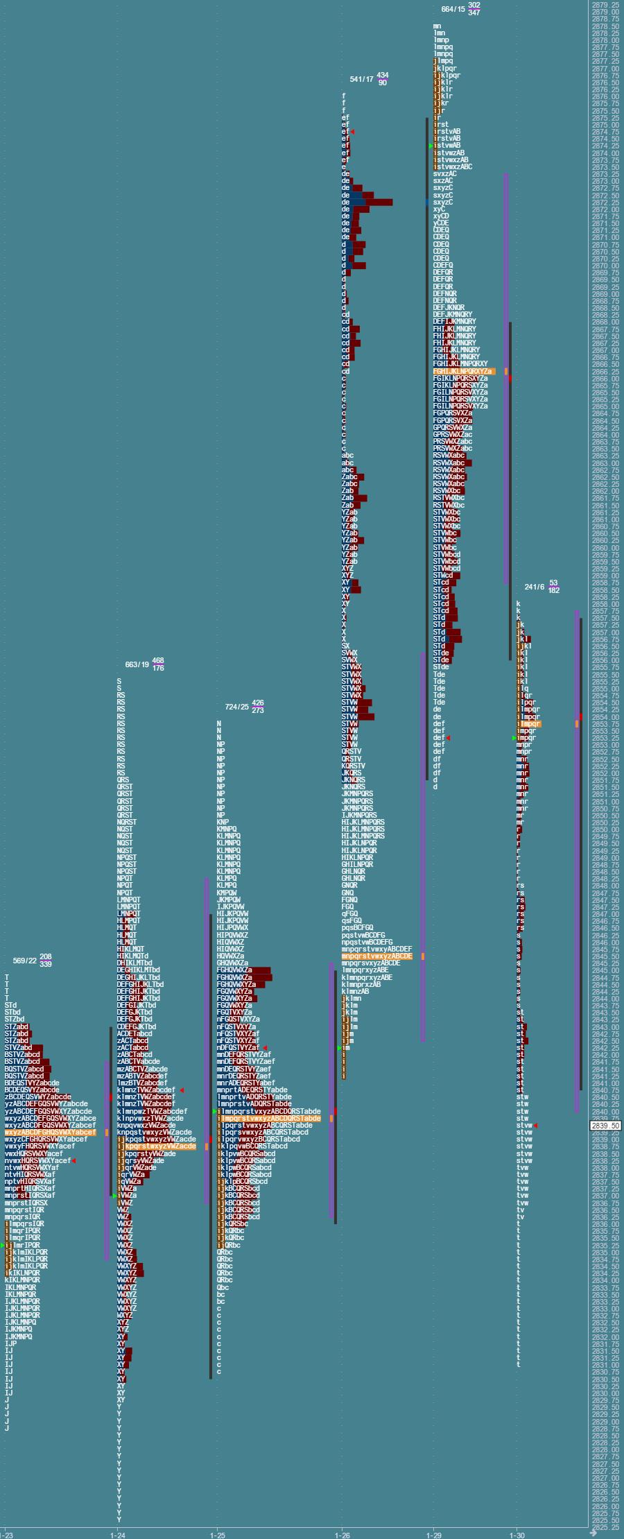 Przygotowane do sesji: market profile z 30 stycznia